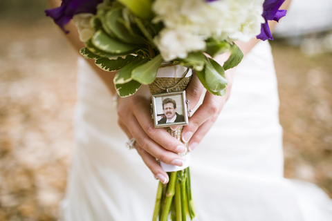 1 Attach A Photo Or Charm Of Theirs To Your Bouquets This Way They Can Still Walk You Down The Aisle